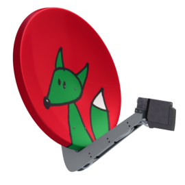 Satellitenantenne Kleiner Fuchs
