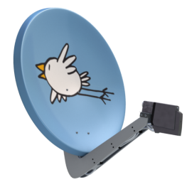Satellitenantenne Vogel