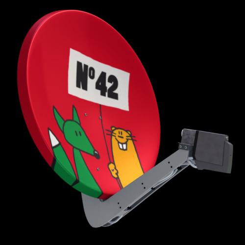 Satellitenantenne Haus-Nr.-Träger